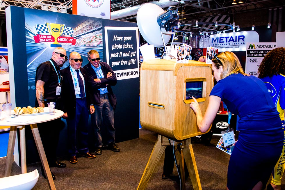 Planet Booths corporate photo booth hire at Birmingham NEC Automechanika Show 2017