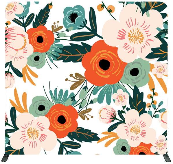 Vintage Flowers Backdrop