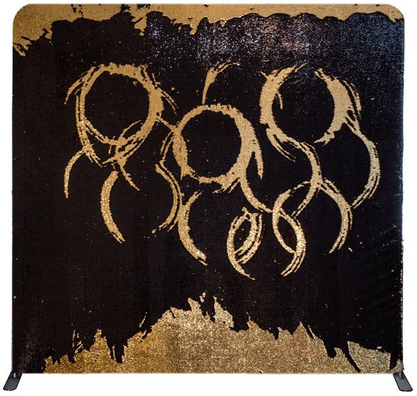Gold & Black Sequin Backdrop