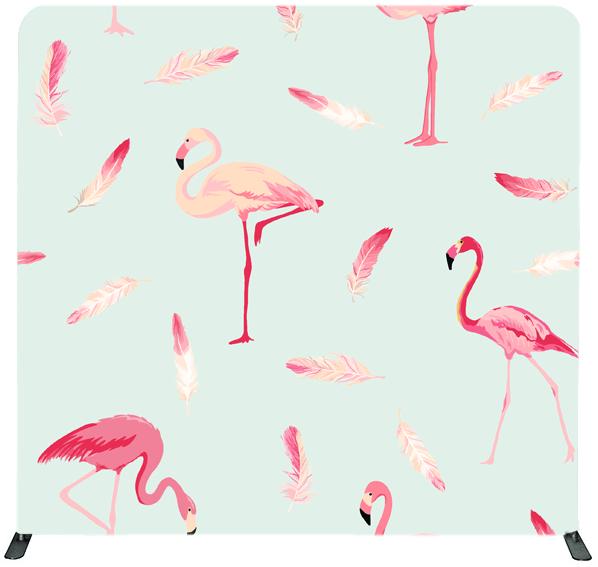 Flamingos Photo Booth Backdrop