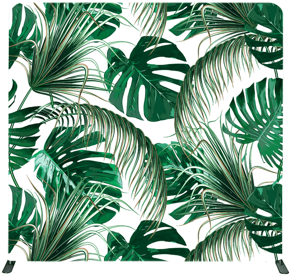 Palms Wood Photo Booth Backdrop